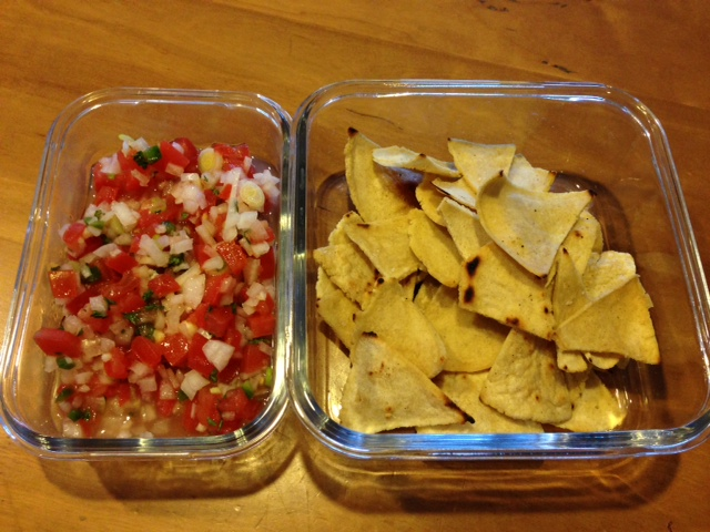 chips and pico de gallo